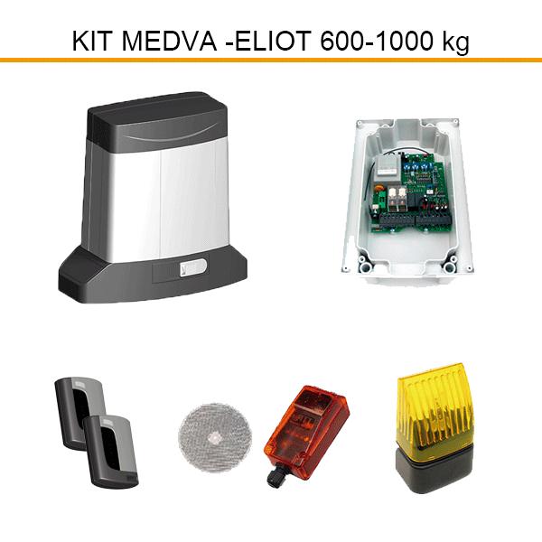 Kit accionador eliot 600 1000 for Kit motor puerta corredera